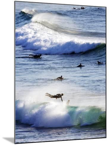 Surfing at Southern End of Bondi Beach-Oliver Strewe-Mounted Photographic Print