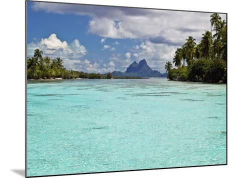 Bora Bora at End of Channel Between Two Motus in Taha'a Lagoon-Emily Riddell-Mounted Photographic Print