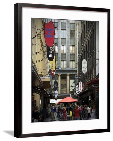 View of Majorca Building and Degraves Street-Glenn Beanland-Framed Art Print
