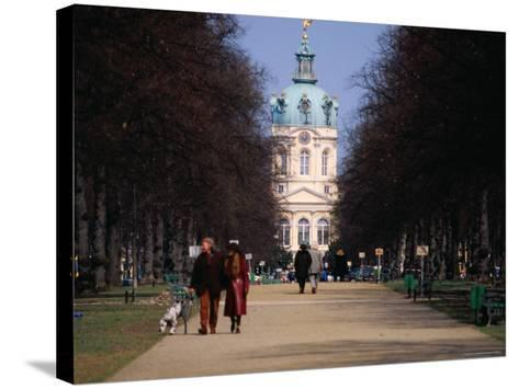 Tree Lined Path to Charlottenburg Palace's Central Domed Tower, Circa 1812-David Peevers-Stretched Canvas Print