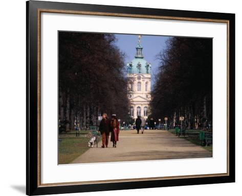 Tree Lined Path to Charlottenburg Palace's Central Domed Tower, Circa 1812-David Peevers-Framed Art Print