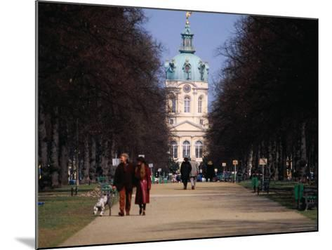 Tree Lined Path to Charlottenburg Palace's Central Domed Tower, Circa 1812-David Peevers-Mounted Photographic Print