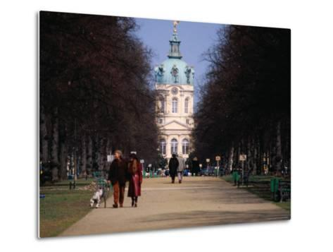 Tree Lined Path to Charlottenburg Palace's Central Domed Tower, Circa 1812-David Peevers-Metal Print