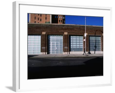 Facade and Entrance of the Gagosian Gallery in Soho-Angus Oborn-Framed Art Print