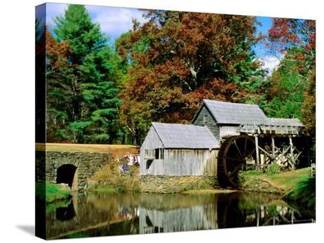 Mabry Mill Near Meadows of Dan-Dennis Johnson-Stretched Canvas Print