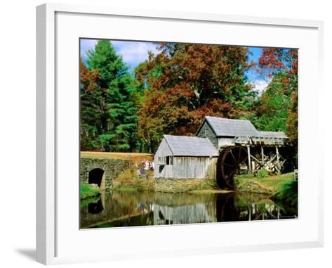 Mabry Mill Near Meadows of Dan-Dennis Johnson-Framed Art Print