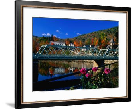 Famous Bridge of Flowers That Spans the Deerfield River in Shelburne Falls, Massachusetts-Charles Cook-Framed Art Print