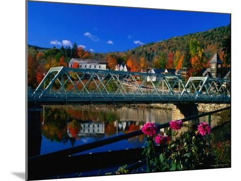 Famous Bridge of Flowers That Spans the Deerfield River in Shelburne Falls, Massachusetts-Charles Cook-Mounted Photographic Print