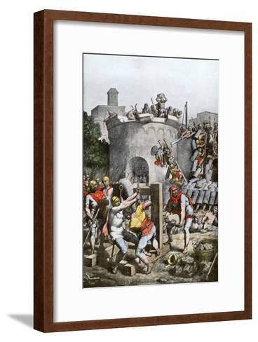 Carthage Destroyed by the Roman Army in the Third Punic War, 146 Bc--Framed Art Print