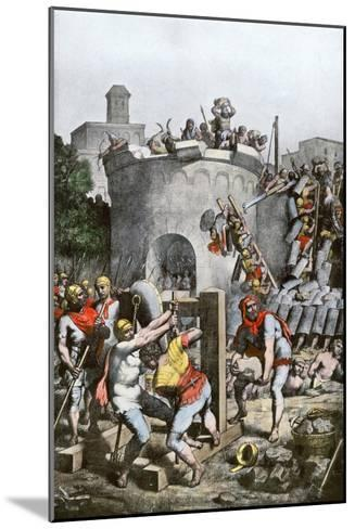 Carthage Destroyed by the Roman Army in the Third Punic War, 146 Bc--Mounted Giclee Print