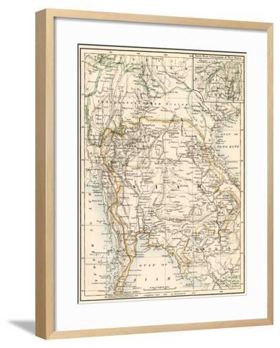 Map of Siam and the Independent Shan States, 1870s--Framed Art Print