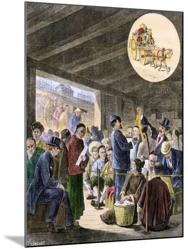 Chinese Immigrants at the San Francisco Custom-Hoouse, 1870s--Mounted Giclee Print