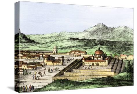 Incan Temple of the Sun in Cuzco, Peru, 1500s--Stretched Canvas Print