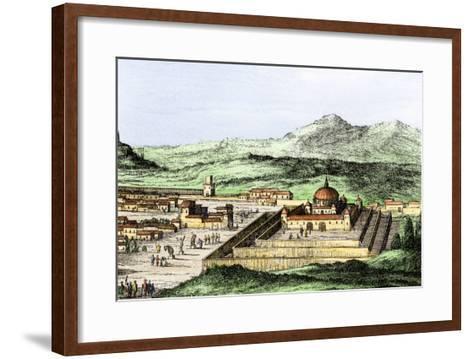 Incan Temple of the Sun in Cuzco, Peru, 1500s--Framed Art Print