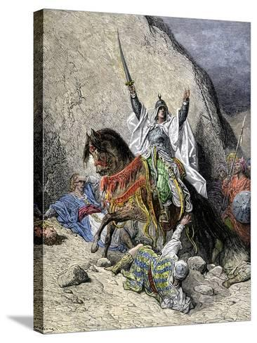 Saladin, Commander of Muslim Forces Against the Crusaders--Stretched Canvas Print