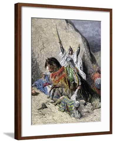 Saladin, Commander of Muslim Forces Against the Crusaders--Framed Art Print