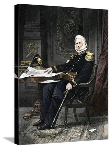 General Winfield Scott Seated at His Desk--Stretched Canvas Print