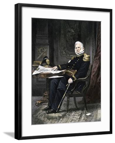 General Winfield Scott Seated at His Desk--Framed Art Print