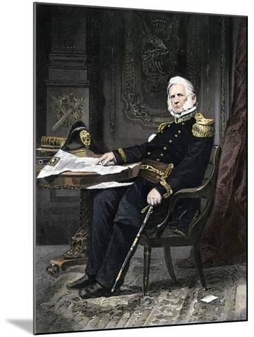 General Winfield Scott Seated at His Desk--Mounted Giclee Print