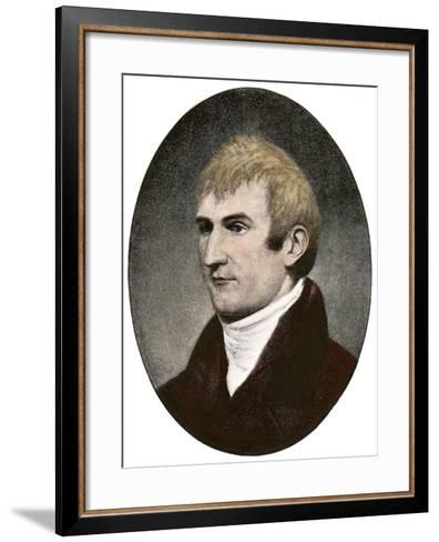 Portrait of Explorer Meriwether Lewis--Framed Art Print