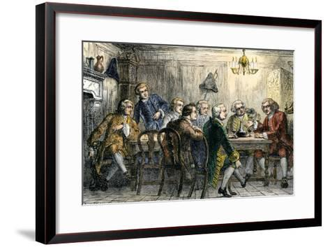 Samuel Johson and James Boswell at the Literary Club, London, 1700s--Framed Art Print