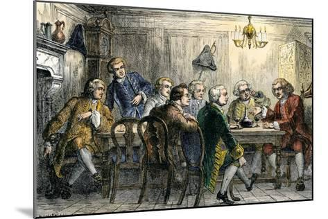 Samuel Johson and James Boswell at the Literary Club, London, 1700s--Mounted Giclee Print