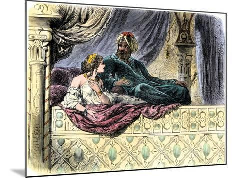 Schahriar Hearing One of the 1001 Nights Stories from Sheherazade--Mounted Giclee Print