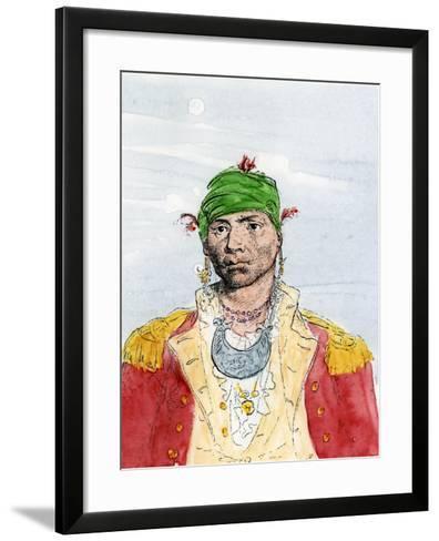 Alexander Mcgillivray, Creek Leader, Late 1700s--Framed Art Print