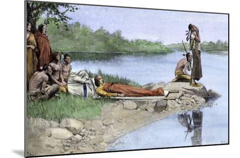 Death of Wampanoag Chief Wamsutta, or Alexander--Mounted Giclee Print