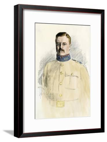 Colonel Theodore Roosevelt When a Rough Rider, 1890s--Framed Art Print