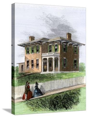 Residence of Ulysses S. Grant in Galena, Illinois. View in 1860s--Stretched Canvas Print