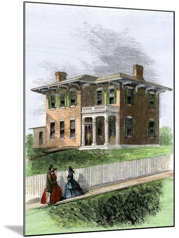 Residence of Ulysses S. Grant in Galena, Illinois. View in 1860s--Mounted Giclee Print