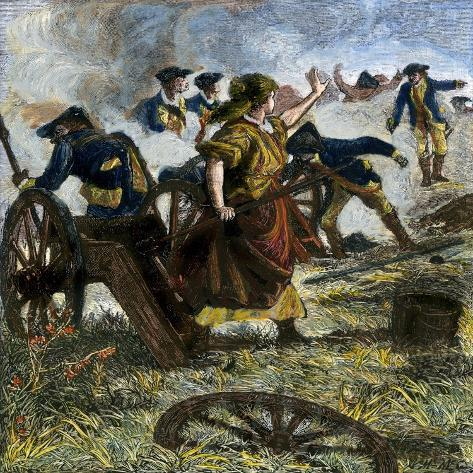 molly pitcher firing her fallen husband s cannon at the battle of
