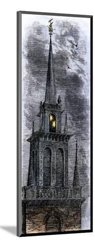 Two Lanterns in the Belfry of the Old North Church, Signalling Paul Revere Ride, 1775--Mounted Giclee Print