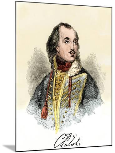 Polish Nobleman Casimir Pulaski, with His Signature--Mounted Giclee Print