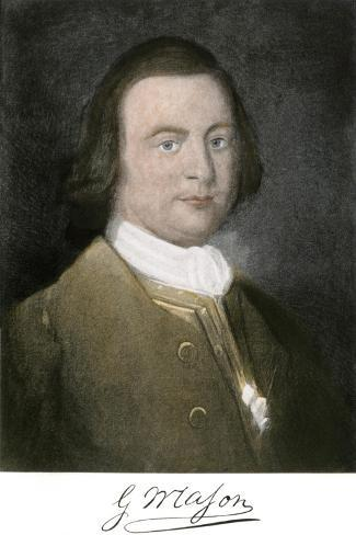 George Mason of Virginia, with His Signature--Stretched Canvas Print