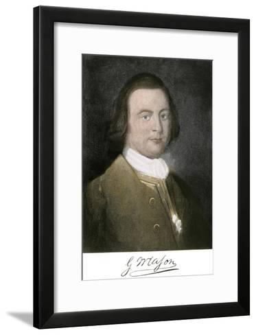 George Mason of Virginia, with His Signature--Framed Art Print