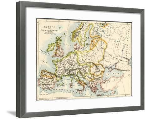 Map of Europe in the Time of Charlemagne, 768-814 Ad Giclee Print by ...