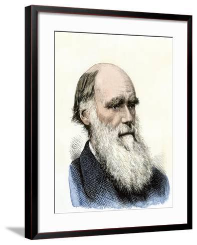 Charles Darwin--Framed Art Print