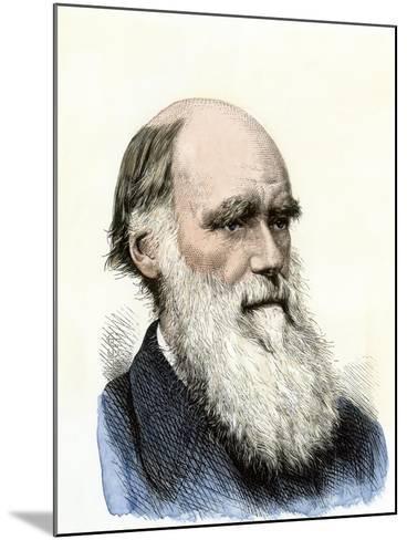Charles Darwin--Mounted Giclee Print