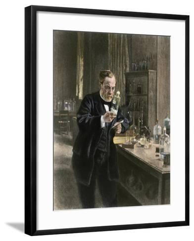 Louis Pasteur in His Laboratory--Framed Art Print