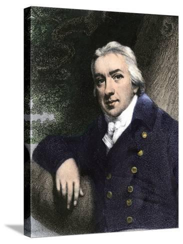 Edward Jenner, Who Discovered Vaccination in 1798--Stretched Canvas Print