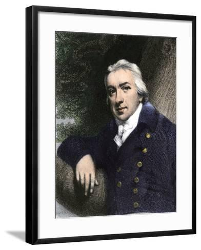 Edward Jenner, Who Discovered Vaccination in 1798--Framed Art Print