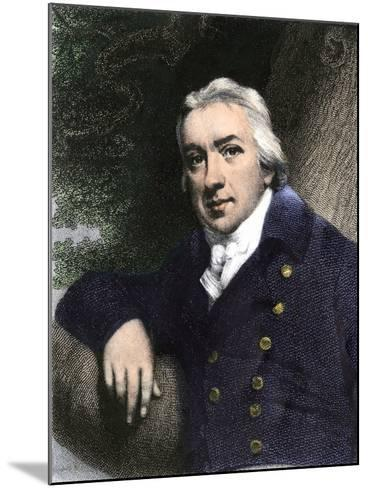 Edward Jenner, Who Discovered Vaccination in 1798--Mounted Giclee Print