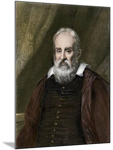 Galileo Galilei, Astronomer--Mounted Giclee Print