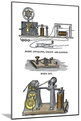 Diagrams of Morse's Telegraph Apparatus, Key, and Register--Mounted Giclee Print
