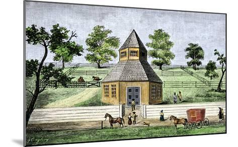First Quaker Meeting-House in Burlington, New Jersey, a Hexagon Built in 1683--Mounted Giclee Print