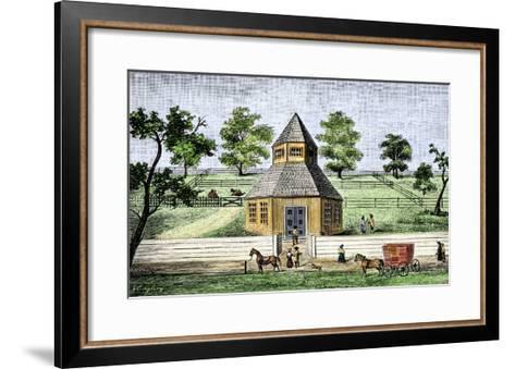 First Quaker Meeting-House in Burlington, New Jersey, a Hexagon Built in 1683--Framed Art Print