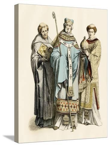 Monk, Archbishop, and Priest of the 11Th Century--Stretched Canvas Print