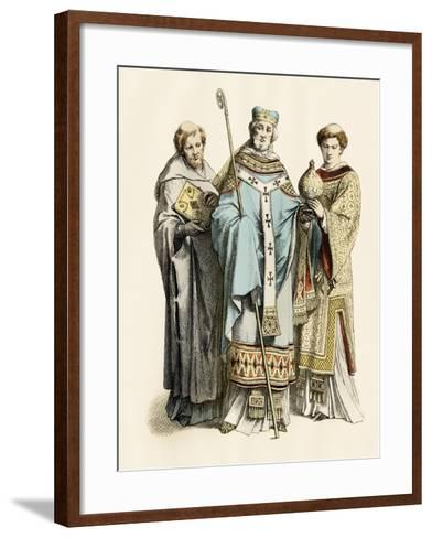 Monk, Archbishop, and Priest of the 11Th Century--Framed Art Print